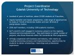 project coordinator gda sk university of technology