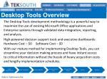 desktop tools overview