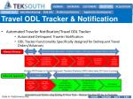 travel odl tracker notification