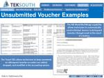 unsubmitted voucher examples