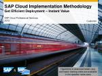 sap cloud implementation methodology get efficient deployment instant value