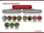 halliburton organization