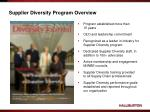 supplier diversity program overview