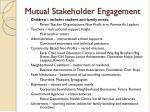 mutual stakeholder engagement