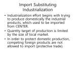 import substituting industrialization