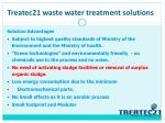 treatec21 waste water treatment solutions