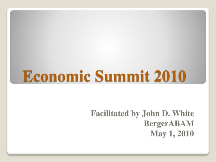 economic summit 2010 n.