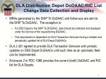dla distribution depot dodaac ric list change data collection and display