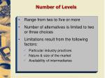number of levels