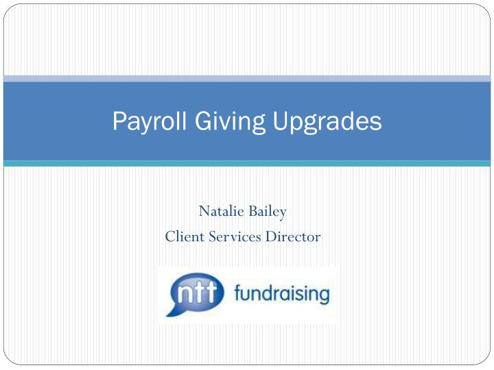 payroll giving upgrades n.