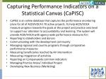 capturing performance indicators on a statistical canvas capisc