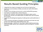 results based guiding principles