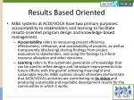 results based oriented