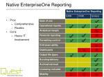 native enterpriseone reporting