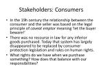 stakeholders consumers