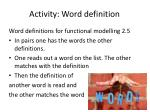 activity word definition