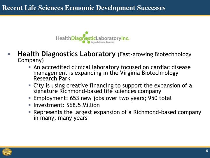 Recent Life Sciences Economic Development Successes