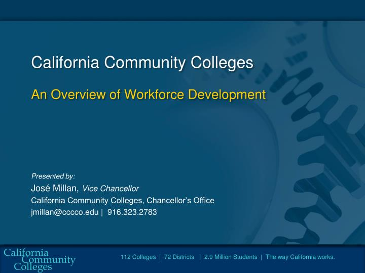 california community colleges an overview of workforce development n.