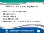 how do i stay in compliance