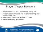 stage ii vapor recovery