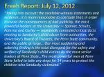 freeh report july 12 2012
