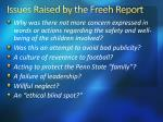 issues raised by the freeh report