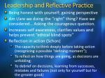 leadership and reflective practice