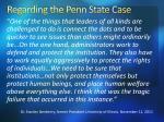regarding the penn state case