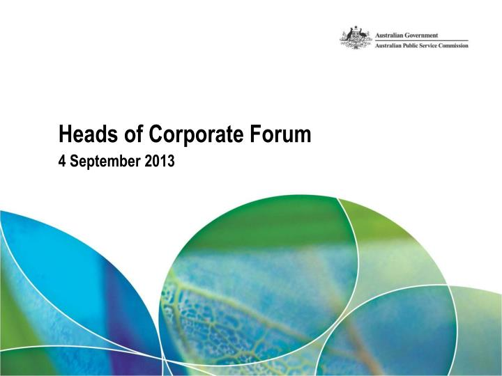 heads of corporate forum n.