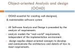 object oriented analysis and design ooad