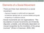 elements of a social movement