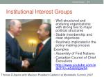 institutional interest groups