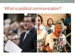 what is political communication