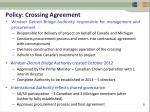 policy crossing agreement