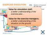 exercise execution