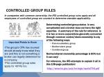 controlled group rules