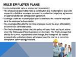 multi employer plans