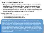 non calendar year plans