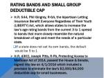 rating bands and small group deductible cap