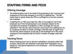 staffing firms and peos