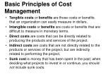 basic principles of cost management1