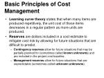 basic principles of cost management2