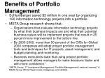 benefits of portfolio management