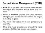 earned value management evm