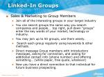 linked in groups