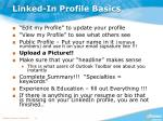 linked in profile basics