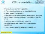 cvt s core capabilities