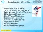 domain expertise us health care