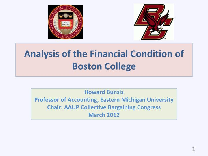 analysis of the financial condition of boston college n.