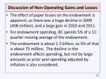 discussion of non operating gains and losses